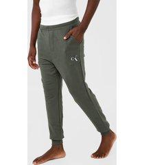 calça de moletom calvin klein underwear jogger logo verde - kanui