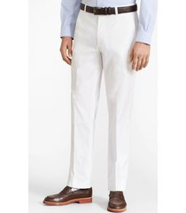 pantalones clark fit chino blanco brooks brothers