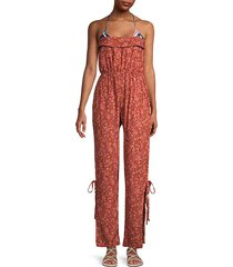 osaka strapless floral jumpsuit