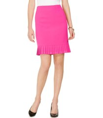 kasper petite pleated flounce pencil skirt