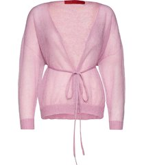 crine stickad tröja cardigan rosa max&co.