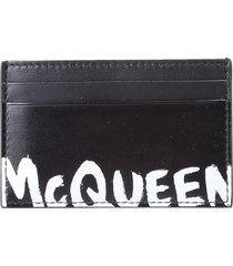 alexander mcqueen graffiti card holder