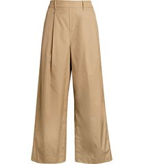 high-rise cropped utility pants