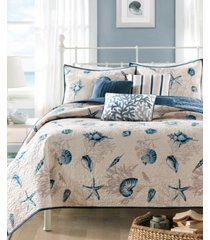 madison park bayside 6-pc. quilted king coverlet set bedding