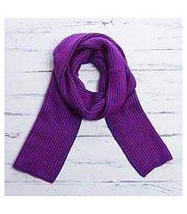 scarf, 'fuchsia waves' (peru)