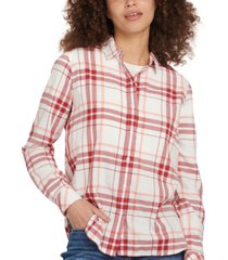 barbour shoreline plaid shirt