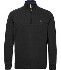 ls 1/2 zip polo black sweat-shirt tröja svart timberland