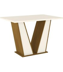 mesa henn garda s205-127, nature e off white, 120 cm