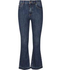 red valentino flared cuff denim jeans