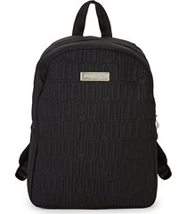 mini quilted logo backpack