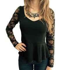 blusa negra florencia casarsa ampapola