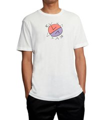 men's rvca crossed up graphic tee, size xx-large - ivory