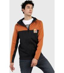 chaqueta negro-naranja jack & jones