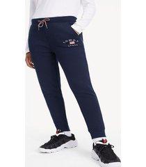 jogger logo azul tommy jeans