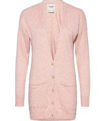 cardi stickad tröja cardigan rosa abercrombie & fitch