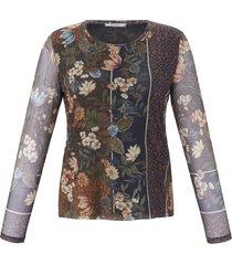 mesh-shirt met lange mouwen van elena miro multicolour