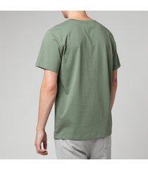a.p.c. men's item t-shirt - green - xl