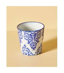 vaso yulin de cerâmica cor: azul - tamanho: único