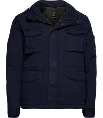 classic rookie jacket tunn jacka blå superdry