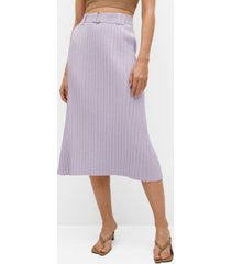 mango pleated skirt with belt