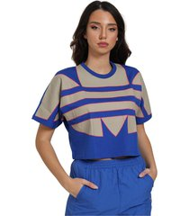 crop t-shirt with maxi logo