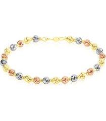 bracciale in oro tricolore per donna