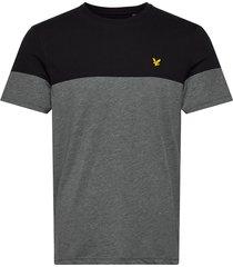 chest block t-shirt t-shirts short-sleeved svart lyle & scott sport