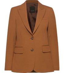 3596 - ginette pointy blazers business blazers brun sand