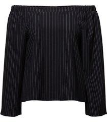 willow blouse blus långärmad svart twist & tango