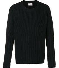 acne studios nicholas ribbed sweater - black