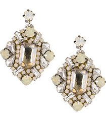 winter crystal drop earring