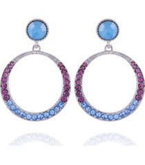 nanette lepore extra celestial front facing hoop earrings