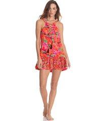 vestido rosa-multicolor maaji swimwear florealis mermaizing
