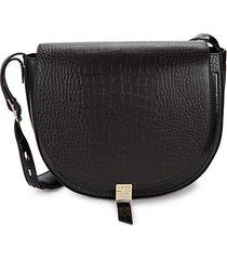 hurlingham textured leather shoulder bag