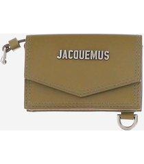 jacquemus designer men's bags, khaki wallet