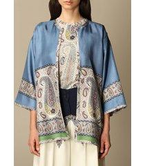 etro jacket etro kimono cardigan in paisley silk