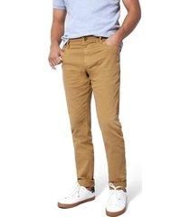 pantalon cleverlander stretch color siete para hombre - cafe
