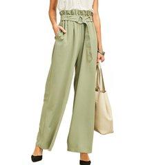 pantalón hebilla verde bhora
