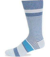 multi-striped cotton-blend socks