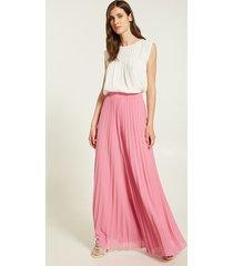 motivi pantaloni palazzo plissé donna rosa