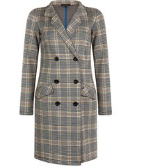 coat dress jacquard check