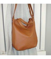 ruda damska torba na ramię, duża listonoszka