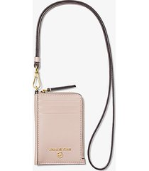 mk custodia jet set piccola in pelle per documento - rosa tenue (rosa) - michael kors