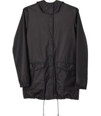 matt & nat demee womens rain jacket, black