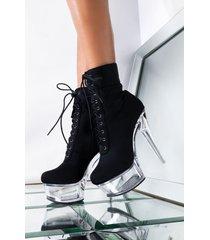 akira azalea wang around the block stiletto heel bootie in black