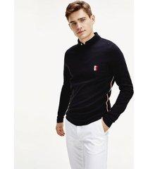 jersey essential con monograma negro tommy hilfiger