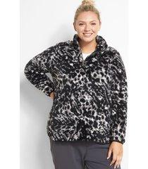 lane bryant women's livi half-zip pullover - sherpa 14/16 animal hatch