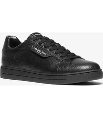 mk sneaker keating in pelle martellata - nero (nero) - michael kors