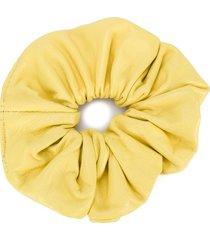 manokhi scrunchie hair tie - yellow