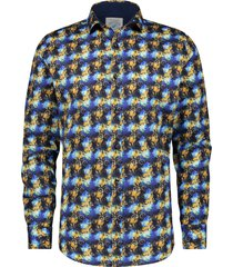 a fish named fred 21.01.006 overhemd city bikes blue shirt multicolor -